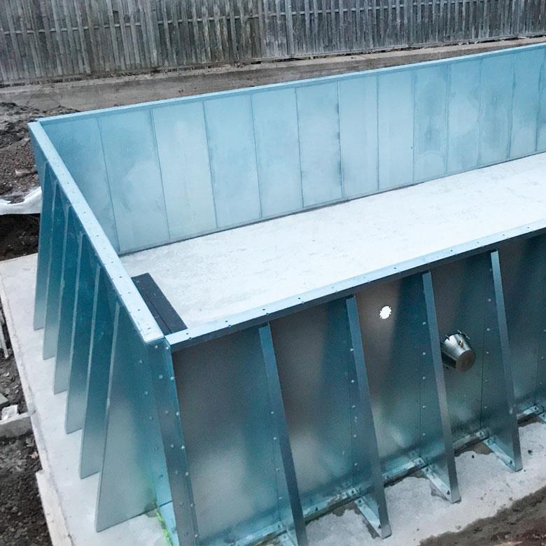 bygga pool själv